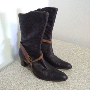 Henry Beguelin Brown Leather Boot